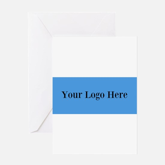 Your Logo Here (Wide) Greeting Cards