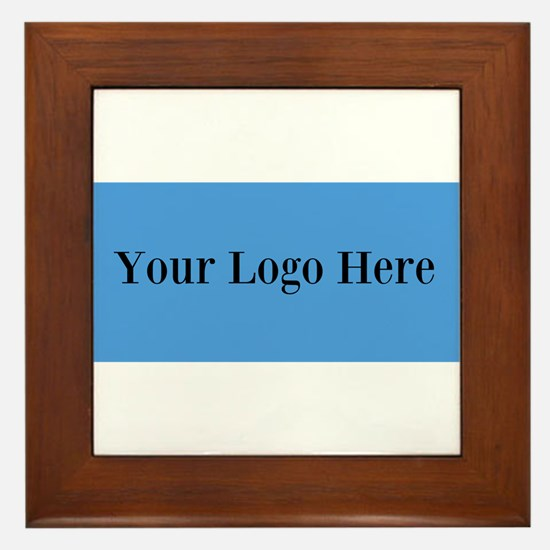 Your Logo Here (Wide) Framed Tile