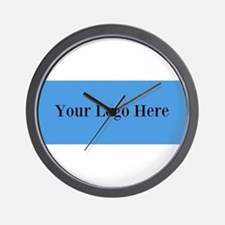 Your Logo Here (Wide) Wall Clock