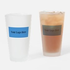 Your Logo Here (Wide) Drinking Glass