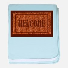 Welcome Coconut Doormat baby blanket