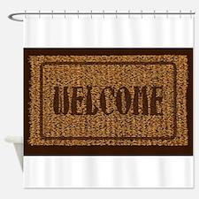 Welcome Coconut Doormat Shower Curtain