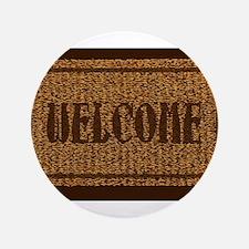 Welcome Coconut Doormat Button