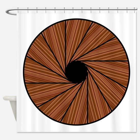 Down A Spiral Staircase Shower Curtain