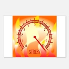Fire Background Stress Me Postcards (Package of 8)