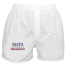 MAYA for president Boxer Shorts