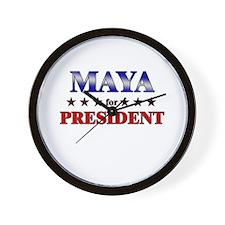 MAYA for president Wall Clock