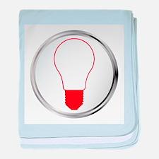 Light Bulb Button baby blanket