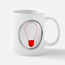 Light Bulb Button Mugs
