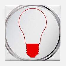 Light Bulb Button Tile Coaster