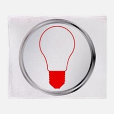 Light Bulb Button Throw Blanket