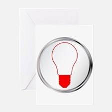 Light Bulb Button Greeting Cards