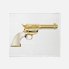 A Golden Revolver Throw Blanket