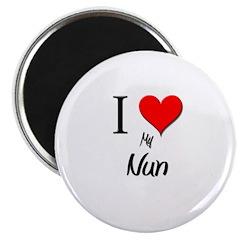 I Love My Nun Magnet
