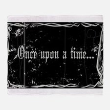 Silent Movie Frame Once Upon A Time Throw Blanket