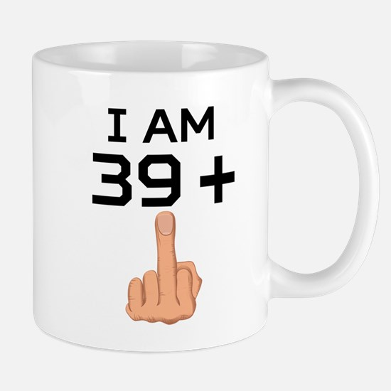 39 Plus Middle Finger 40th Birthday Mugs