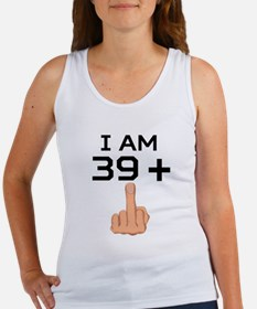 39 Plus Middle Finger 40th Birthday Tank Top
