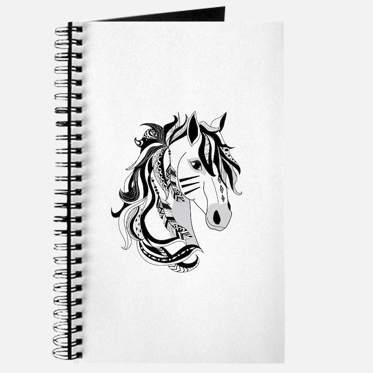 Beautiful Tribal Horse Journal