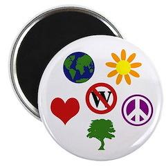 Six Symbols Against Bush Magnet