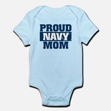 US Navy Proud Navy Mom Infant Bodysuit