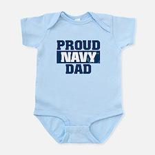 US Navy Proud Navy Dad Infant Bodysuit
