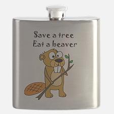 Unique Beaver Flask