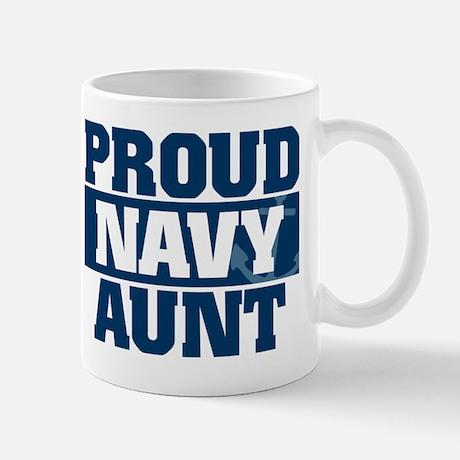 Navy Proud Aunt Mug Mug