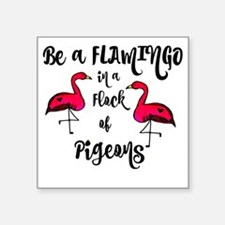 "Cute Flock Square Sticker 3"" x 3"""