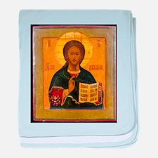 Jesus Christ Russian Icon baby blanket