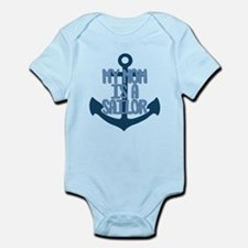 US Navy My Mom is a Sailor Infant Bodysuit