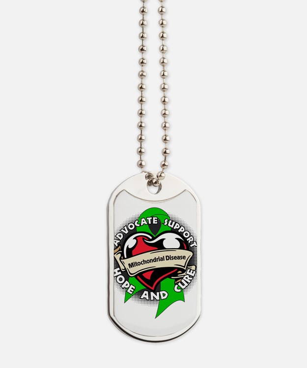 Mitochondrial Disease Tattoo Dog Tags