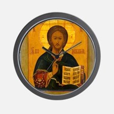 Jesus Christ Russian Icon Wall Clock