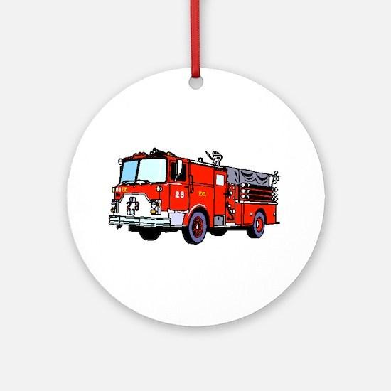 Fire Truck Round Ornament