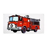 Fire truck Beach Towels
