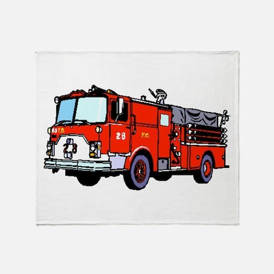 Fire Truck Throw Blanket