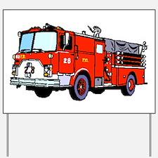 Fire Truck Yard Sign
