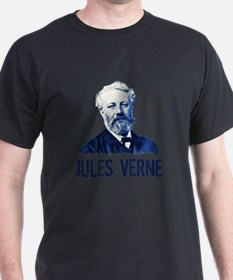 Jules Verne in Blue T-Shirt