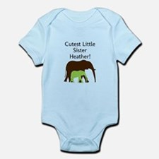 Cutest Little Sister-Personalize Body Suit