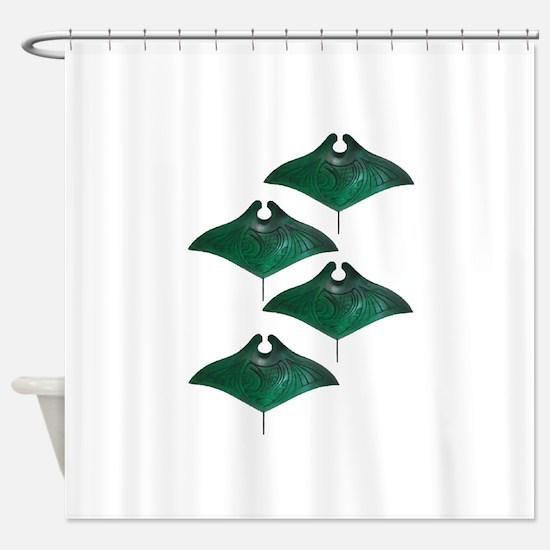 MANTAS Shower Curtain