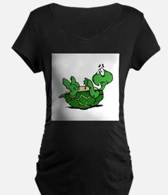 Turtle on His Back Maternity T-Shirt