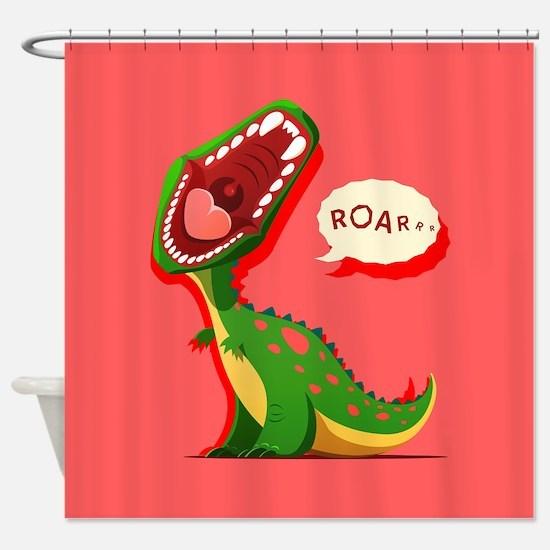 Cute Dinosaur Shower Curtain