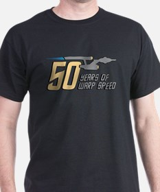 Star Trek 50 Years Warp Speed T-Shirt