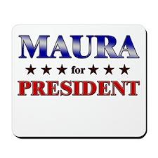 MAURA for president Mousepad