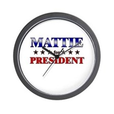 MATTIE for president Wall Clock