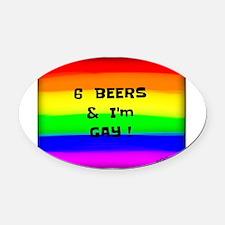 Cool Bear gay men Oval Car Magnet