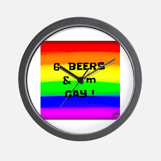 Cool Gay ally Wall Clock