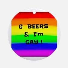 Unique Gay ally Round Ornament