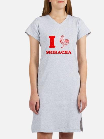 I Love Sriracha Women's Nightshirt