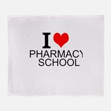 I Love Pharmacy School Throw Blanket
