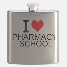 I Love Pharmacy School Flask